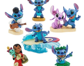Lilo and Stitch  CAKE TOPPER PVC Figure Set - Birthday Party Cupcakes Figurines