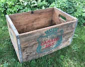 Wood Crate Canada Dry Vintage 1950s