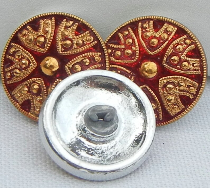 Small Drama Czech Glass Button