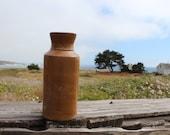 antique, blacking bottle, stoneware, salt glazed, home decor, gifts for her, for him, farmhouse, rustic bath decor, vintage bottle, old