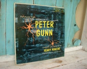 Peter Gunn, Vintage Vinyl, Henry Mancini Soundtrack, Music Album, 50 39 s Gifts, Mid Century Television Series, TV Gifts for Him, His Birthday