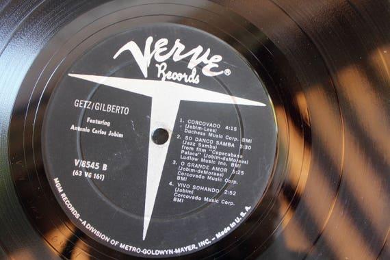 mid century modern, vintage music, vinyl record, jazz music, verve records,  antonio carlos jobim, stan getz joao gilberto, gifts for him