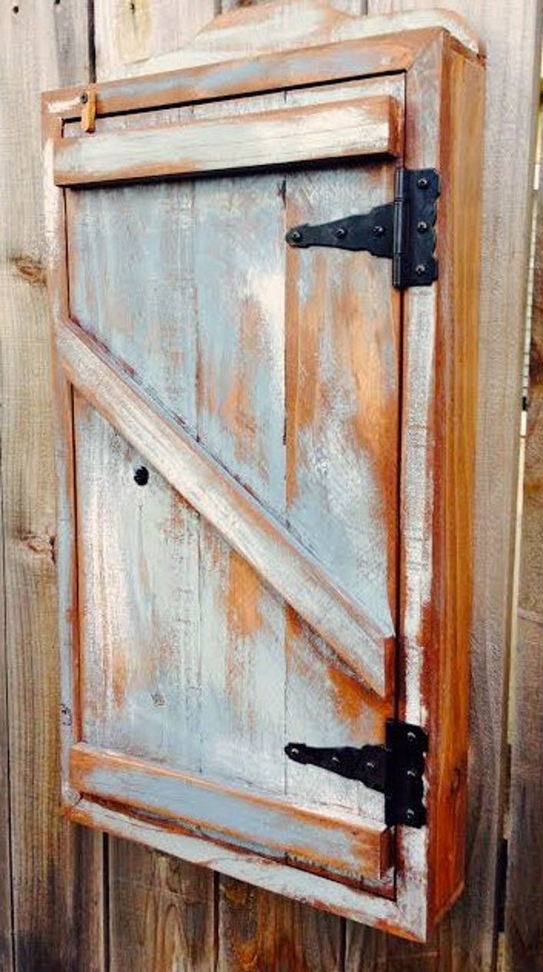 Rustic spice cabinet bathroom cabinet wall mount spice ...