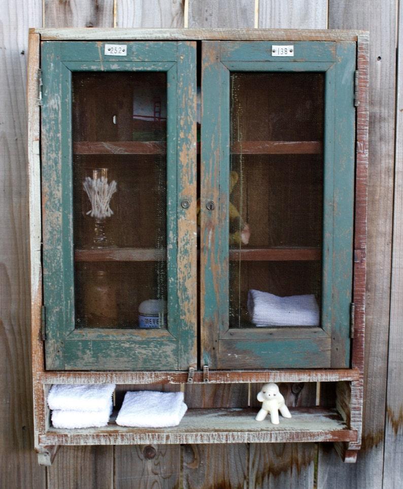 Bathroom Cabinet Wall Unit Medicine Storage Reclaimed Rustic Etsy