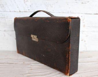 Barber Grooming Kit for Men Victorian Era International Sterling Engraved Silver Leather Case Victorian Gift for Him Gift for Husband Man