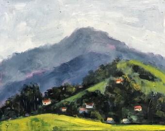California Plein Air Landscape Oil Painting Original Art San Francisco Bay Area Mt Diablo Mount Diablo California Artist USA Made Artwork