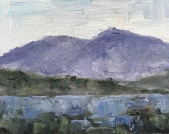 California Plein Air Landscape Oil Painting Original Wall Art Northern California Mount Diablo Mt Diablo California Artist USA Made Artwork
