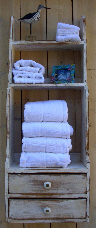 wood shelf bath bathroom storage home decor shelves towel   Etsy
