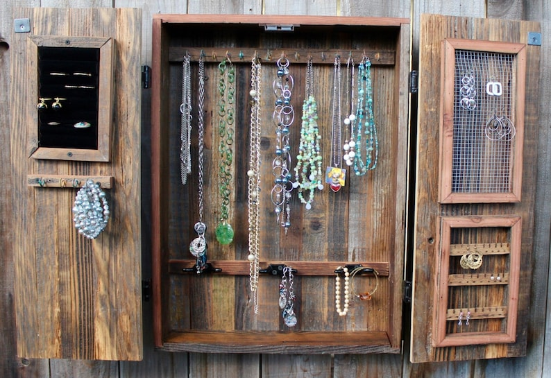 Jewelry Storage Wall Jewelry Cabinet Jewelry Armoire Etsy