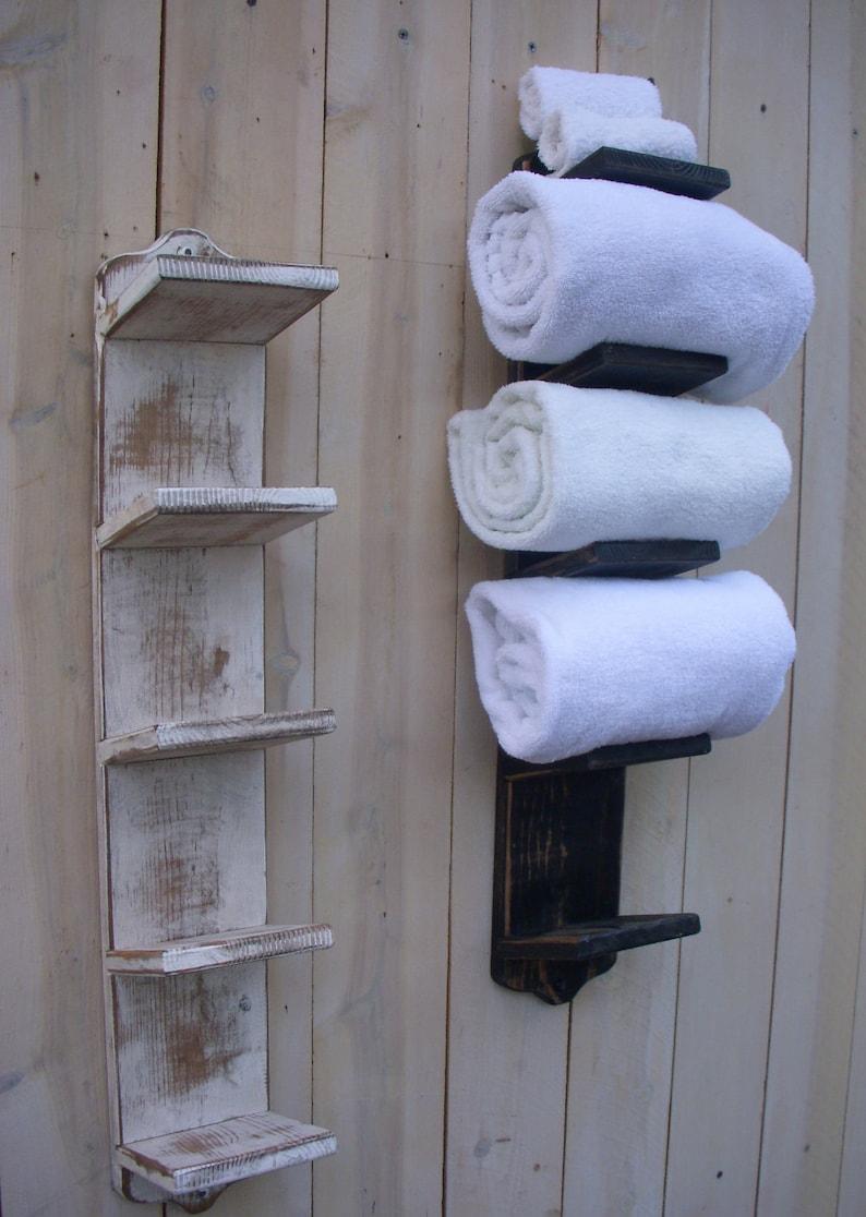 towel shelf towel holders wall farmhouse bath wall shelf etsy rh etsy com bathroom wood shelf with towel bar wooden bathroom towel shelf