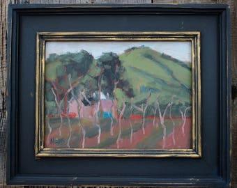 California Plein Air Landscape Oil Painting Original Art San Francisco Bay Area Cherry Glen Road Vacaville California Artist USA Made Art