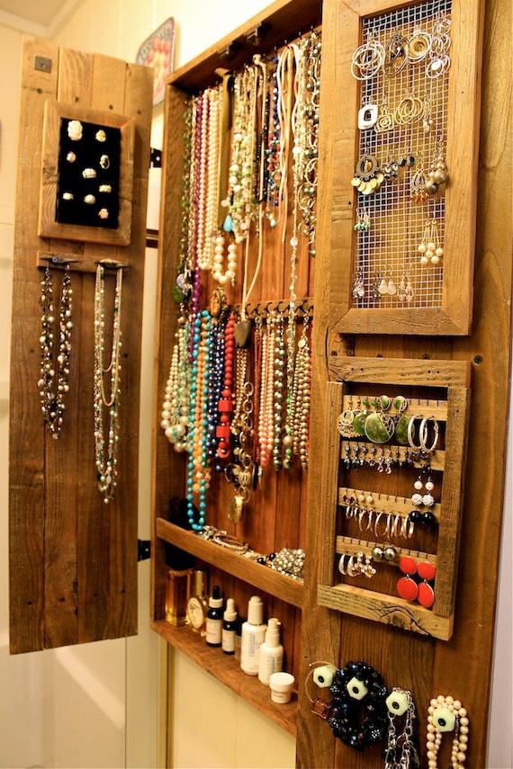 jewelry organizer wall mounted jewelry display wall mount ...