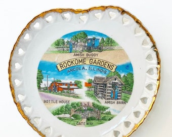 Vintage Rockome Gardens, Amish Country Souvenir Wall Plate