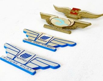 Vintage Airline Wings, Set of 4 (1980s/90s)