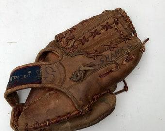 Vintage Spalding Leather Baseball Glove - Dick McAuliffe