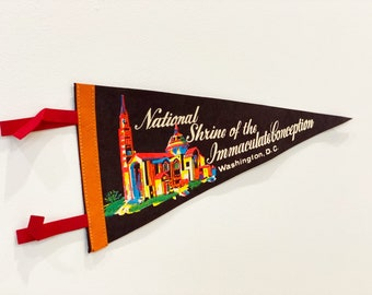 Vintage National Shrine of the Immaculate Conception, Washington D.C. Pennant