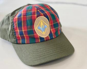 Vintage Boy Scouts WEBELOS Plaid Cap