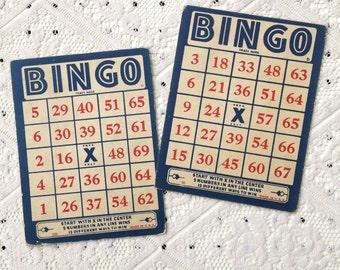 SALE: Vintage BINGO Cards (Set of 2)