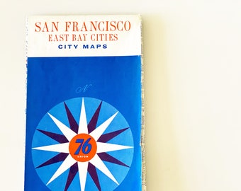 Vintage San Francisco & East Bay Cities Road Map (1960s)