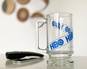 Vintage HBO Glass Beer Mug