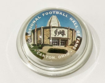 Vintage Professional Football Hall of Fame Paperweight