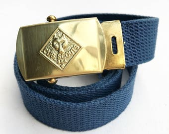 Vintage Cub Scouts Belt with Brass Buckle (Small)