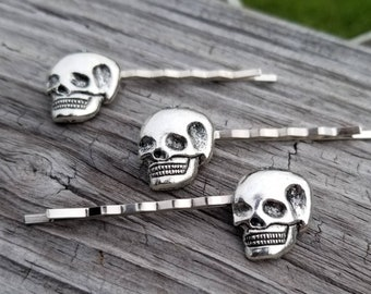 Sugar Skull Hair Pins  Kids/' Hair Accessories  Skull Whimsical Jewelry  Fun Wedding Gifts  Birthday Gift Ideas  Nerdy Birthday Jewelry