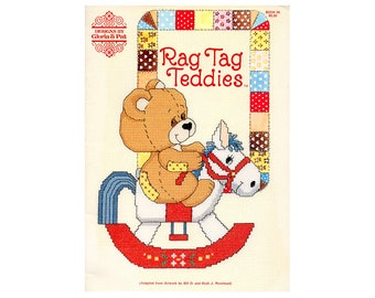 Rag Tag Teddies Cross Stitch Booklet, Gloria & Pat Cross Stitch Booklet, Children Cross Stitch Patterns, Children's Patterns, Baby Patterns