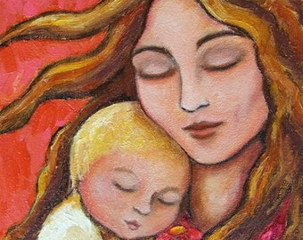 Mother and Child Fine Art Giclee Print of my Original Painting