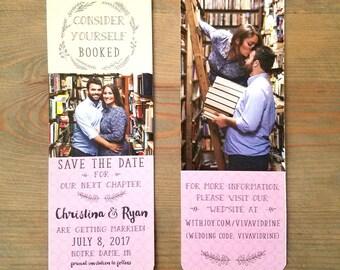 save the date bookmark, bookmark save the date, double sided save the date, save the dates, bookmark, bookmark invitation, barn, RC16001