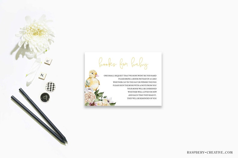 bring a book printable fully editable Book Request Card Template Instant download Baby Shower book for baby RC0148 virtual baby shower