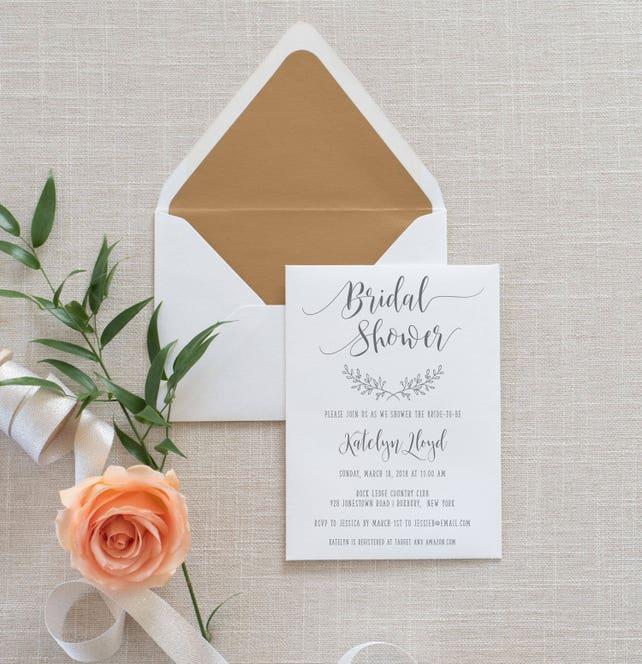 a2630a40e6c2 Rustic Elegance Bridal Shower Invitation