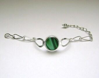 SALE!!!  Sea Glass Jewelry - Sterling Rare Victorian English Sea Glass Bracelet