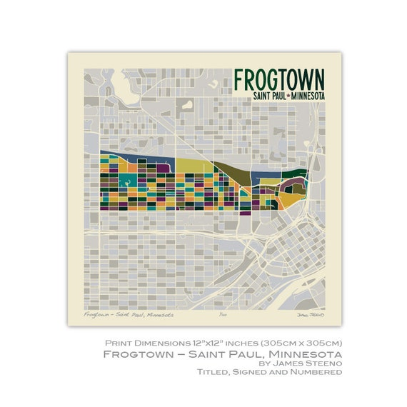 Items similar to Frogtown – Saint Paul, Minnesota
