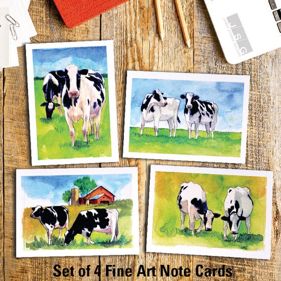 2 Cows Notecard Pack by James Steeno