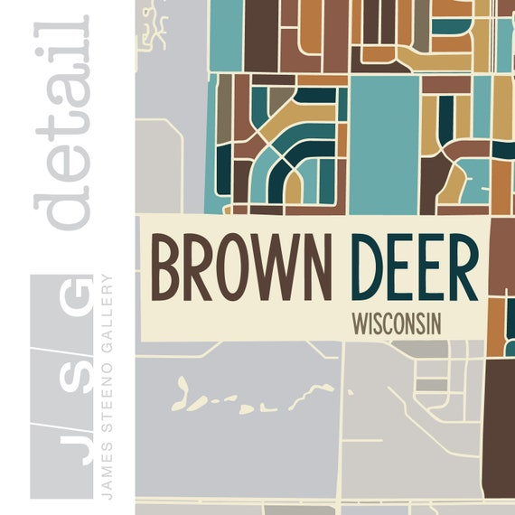 Brown Deer, Wisconsin Art Map Print (Milwaukee County WI) by James on map of river hills wisconsin, map of port washington wisconsin, map of evansville wisconsin, map of ozaukee county wisconsin, map of richland center wisconsin, map of genoa city wisconsin, map of racine wisconsin, map of muskego wisconsin, map of mequon wisconsin, map of butler wisconsin, map of granville wisconsin, map of belgium wisconsin, map of new holstein wisconsin, map of walworth wisconsin, map of black river falls wisconsin, map of kettle moraine wisconsin, map of waterford wisconsin, map of cross plains wisconsin, map of oconomowoc wisconsin, map of boscobel wisconsin,
