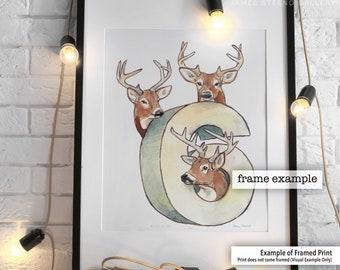 Bucks in Six Watercolor Art Print by James Steeno (Milwaukee Wisconsin Basketball, Milwaukee Basketball)