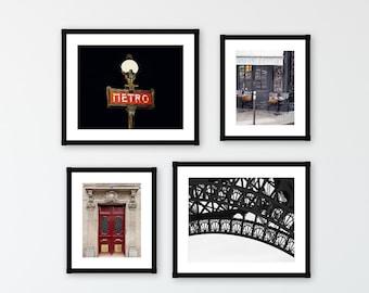 SAVE 30% Paris Photography Gallery Wall Print Set, Paris Eiffel Tower Art Print, Paris Wall Art Decor, Paris Wall Decor Print Set