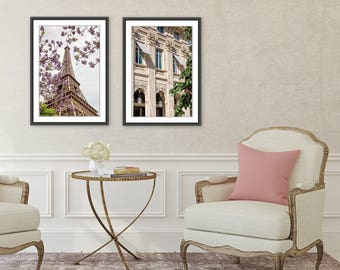 Paris Photography, Eiffel Tower Photograph, Eiffel Tower Print, Paris Blossoms, Paris Decor Gift for Her, Travel Photography, Printemps