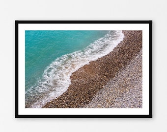 Nice France Photography Print, French Riviera Wall Decor, Beach Photography Print, Summer Vacation Travel Wall Art