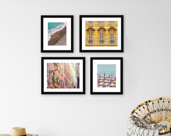 SAVE 30% French Riviera Photography Gallery Wall Print Set, Art Print Set, South of France Wall Art Decor