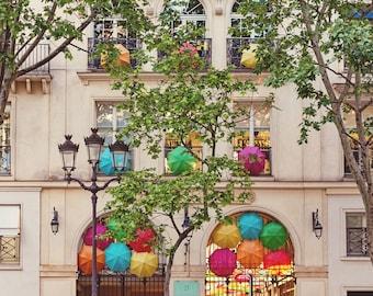 Paris Photography, Village Royal Umbrellas, Architectural Photography Print, Paris France Fine Art Travel Photo Wall Decor