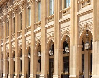 Palais-Royal Architecture Paris France Fine Art Travel Photography, Paris Wall Decor, Large Wall Art Print