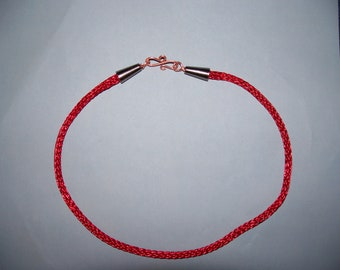 Red Copper Viking Knit Choker Necklace
