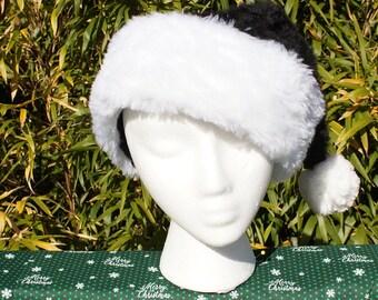 800c9d2b7a364 Fully Lined Black Santa Hat