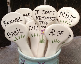 Herb Garden Stakes plant markers