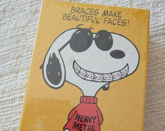 1970s Hallmark Springbok Joe Cool Snoopy  Heavy Metal Braces 100+ Piece Sealed Puzzle