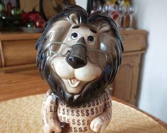 Lefton China Harris Hubert T Lion Ceramic Promotional Savings Bank Japan