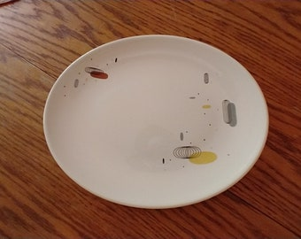 """Knowles China Stratosphere 12"""" Oval MCM Atomic Serving Platter"""