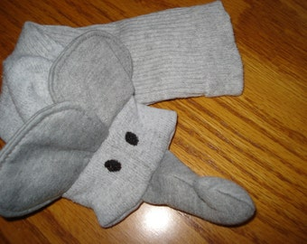 Elephant Sock Puppet nature study language skills puppets class room